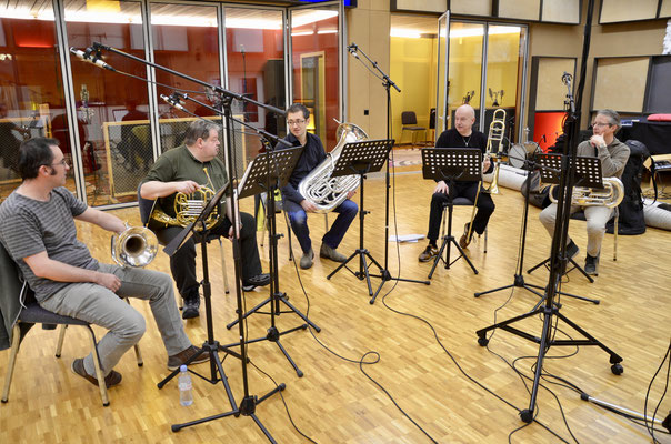 Brass Quintett mit Armin Bachmann Thomas Rüedi Lukas Christinat Daniel Schädeli
