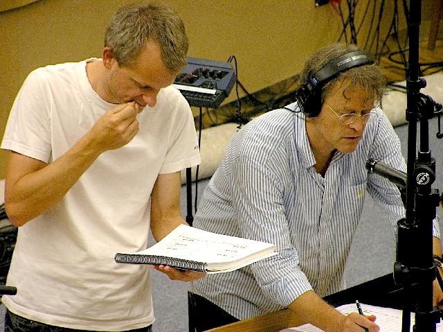 Komponist Patrick Kirst und Dirigent Ludwig Wicki