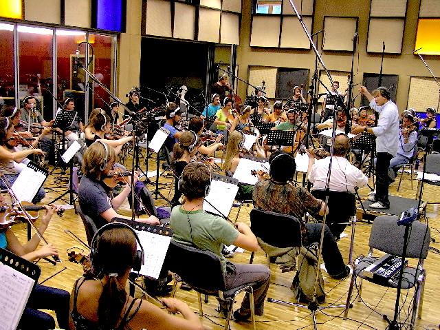 """21st Century Orchestra unter der Leitung von Ludwig Wicki - Soundtrack Aufnahmen zum Film """"Der grosse Kater"""""""
