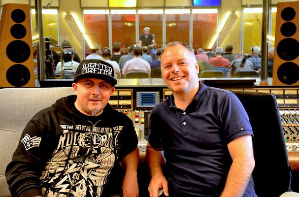 Tontechniker unter sich: Tom Lüthi und Thomas Gabriel