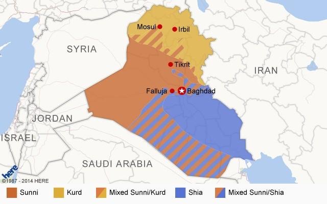 Ethnische Gruppen im Irak (Quelle: CNN, 17. August 2014)