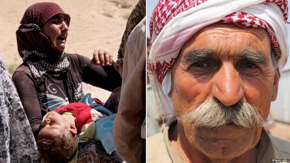 Bilder der BBC von yezidischen Flüchtlingen