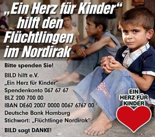 """Spendenaufruf """"Ein Herz für Kinder"""""""
