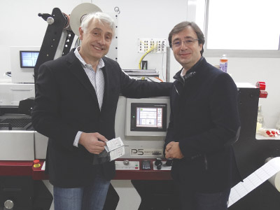 (L-R) Daniel Prevot, owner of Dasyl Provot with Jean-Louis Pecarelo, president of Atypic France
