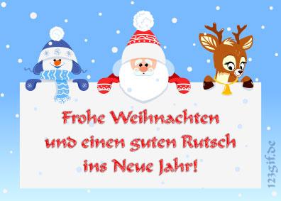 Frohe Weihnachten Und Guten Rutsch In Neues Jahr.Frohe Weihnachten Und Einen Guten Rutsch Ins Neue Jahr