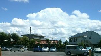 嵐がくる前の空模様
