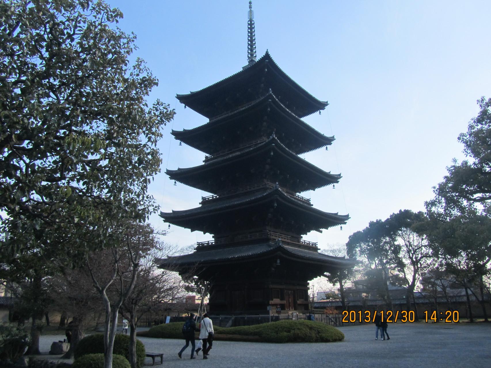 東寺の五重塔。国宝です。