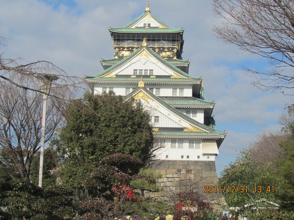 5.大阪城   ご存じ、豊臣秀吉が築いた「太閤さんのお城」です。