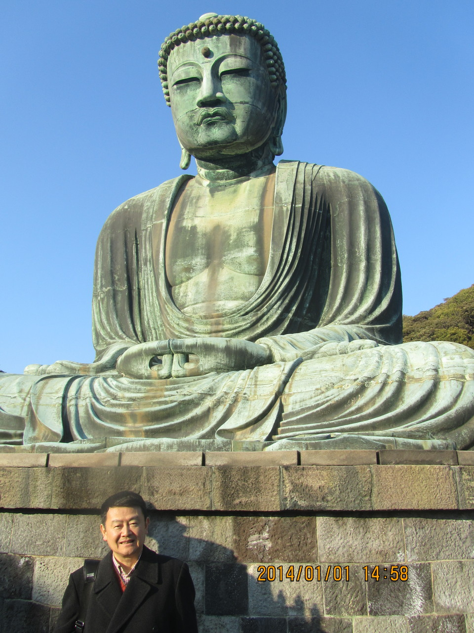 高徳院にある、鎌倉大仏。国宝です。