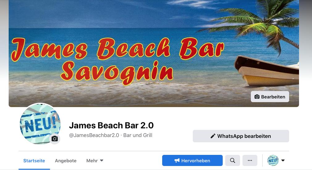 Neuste Nachrichten jetzt auf Facebook James Beach Bar 2.0
