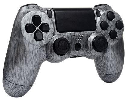 Playstation4 controller brushed aluminium zwarte basecoat