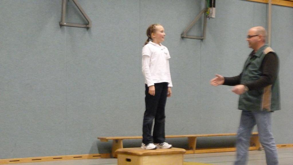 Sophie hat in ihrer Klasse ebenfalls den ersten Platz