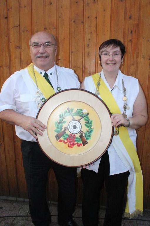 Das Gildekönigspaar 2011/2012: Udo und Tina Kaschner