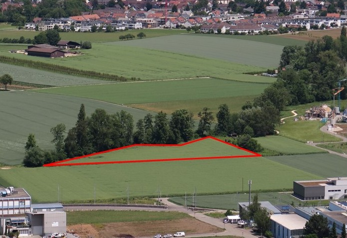 Standort der Weiheranlage am Marchbach am westlichen Siedlungsrand