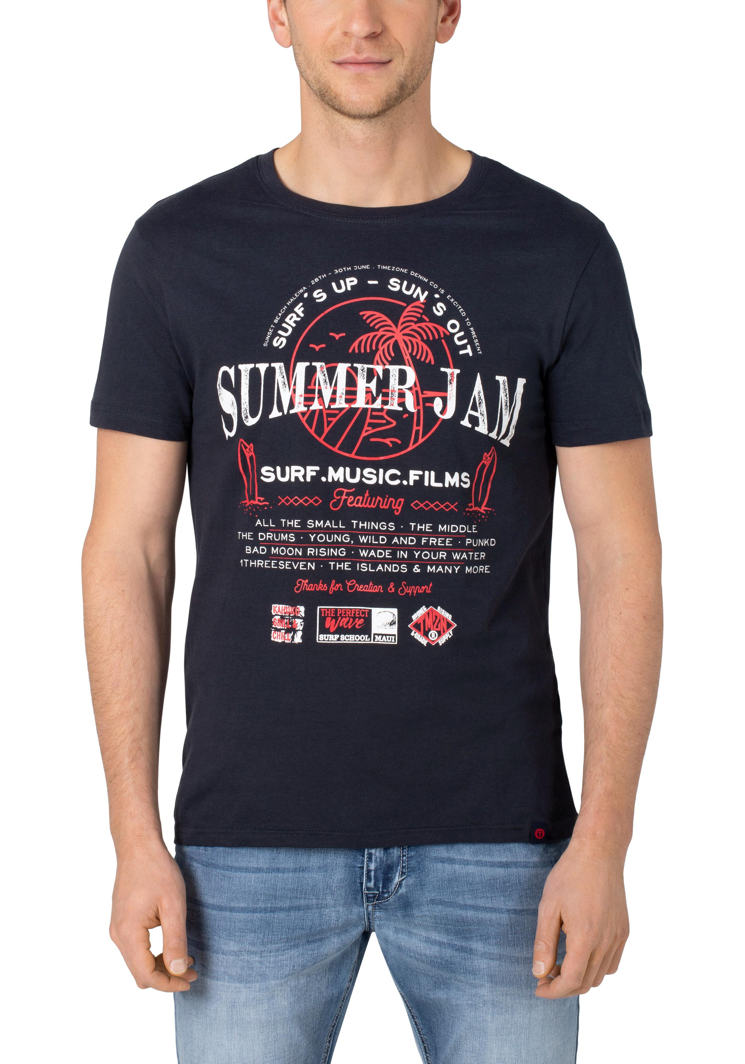 Summer Jam T-Shirt marine bei #Männermode #Schlangen in Grevenbroich #festival #summer #rock #surfin #beach