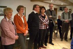 Empfang der Gewinner der Orgellotterie im Heimathaus