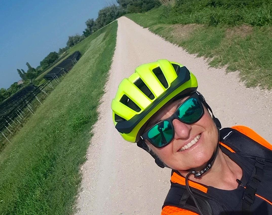 Da Dobbiaco a Rovigo, il cicloviaggio di Mariagrazia Bellinazzi