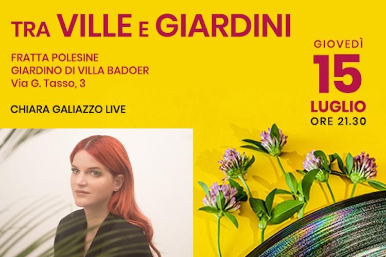 Chiara Galiazzo apre il Festival Tra Ville e Giardini