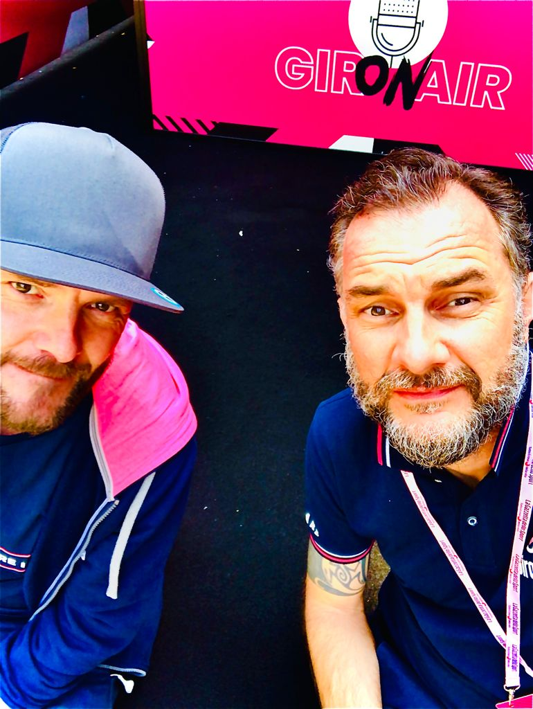 ON Air al Giro d'Italia con Mattia Casarin in squadra con Rcs Sport