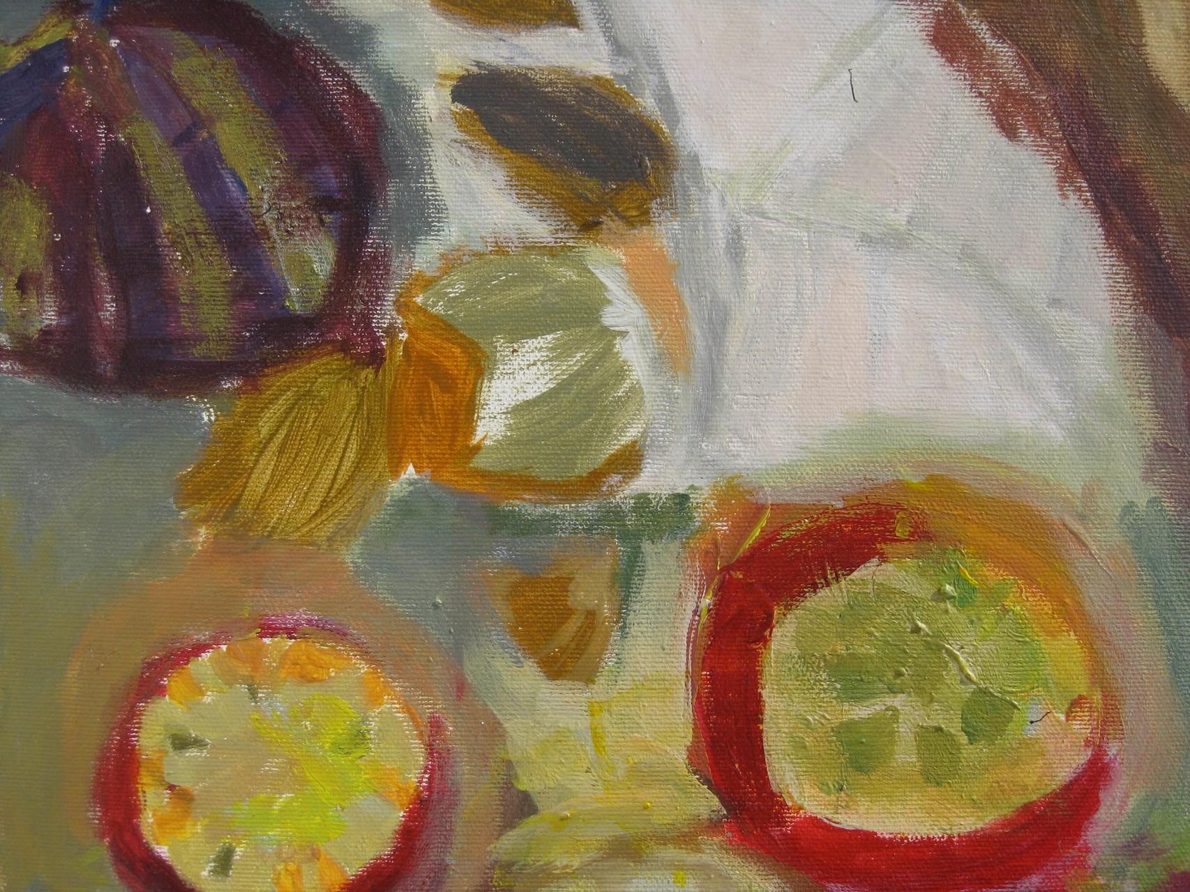 Früchte Acryl/Leinwand 30/30 2008