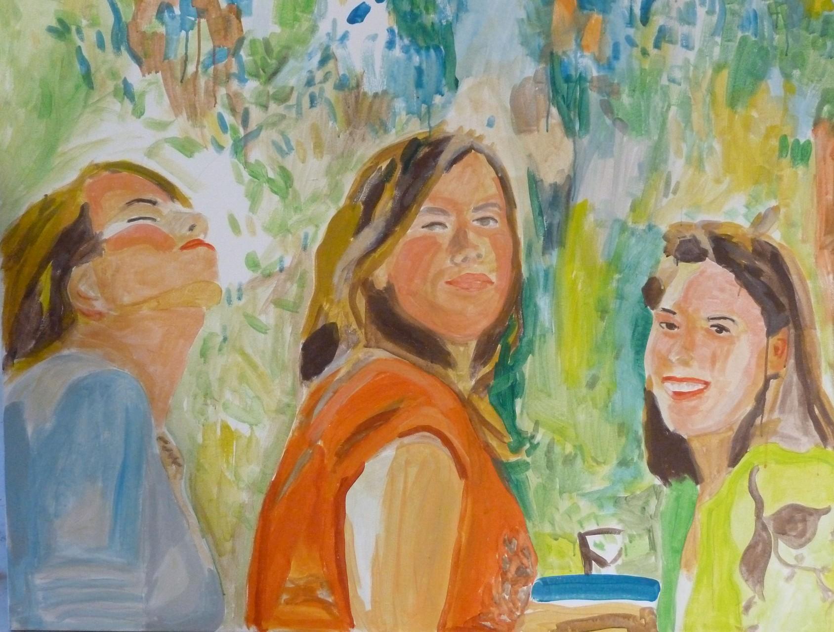 3 Schwestern Acrl/Leinwand 110/100 2012