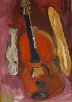 Stillleben mit Violine Acryl/Leinwand 50/70 2012 - für Iris