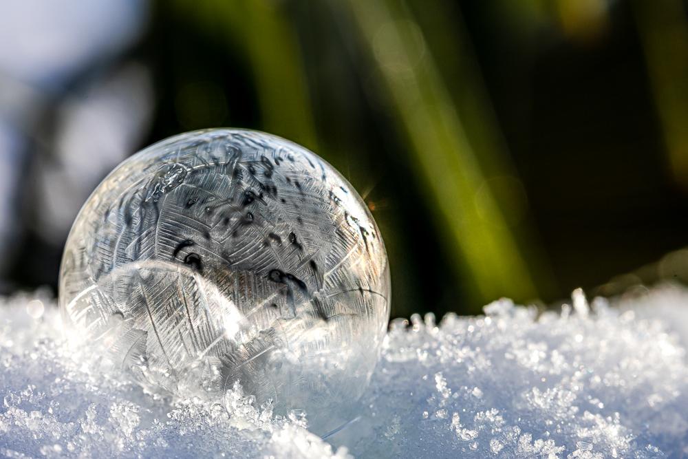 Frostseifenblasen