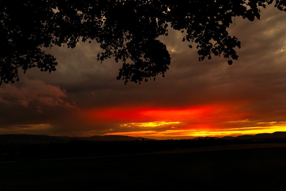Sonnenuntergang im Regen