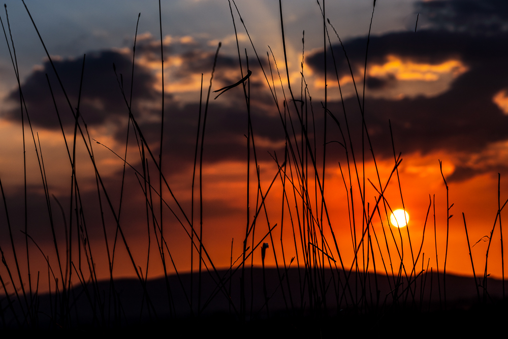 Sonnenuntergang im Wesertal