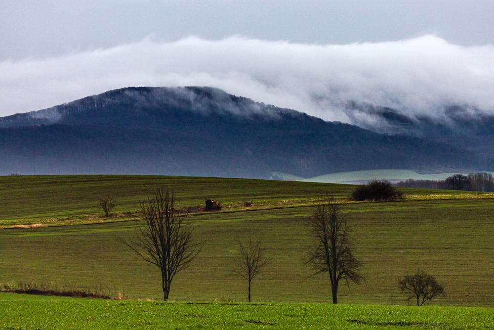 Nebelwolken im Wesertal