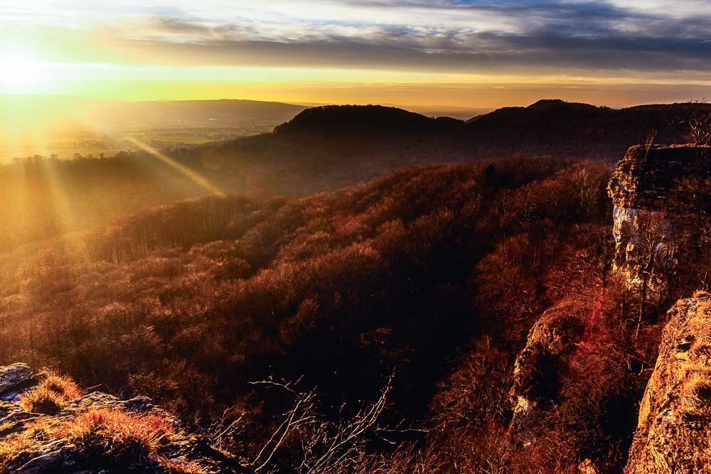 Sonnenuntergang vom Hohenstein-Plateau
