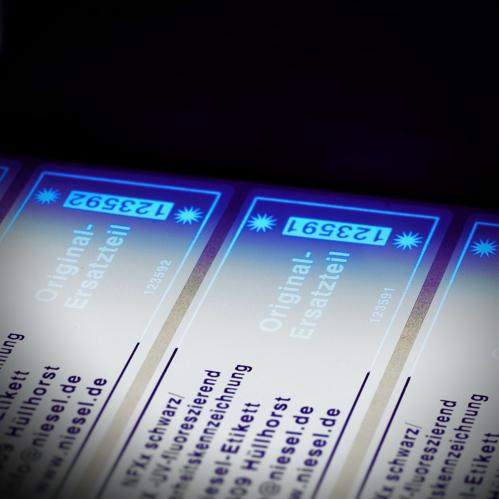 fluoreszierende Druckbeispiele