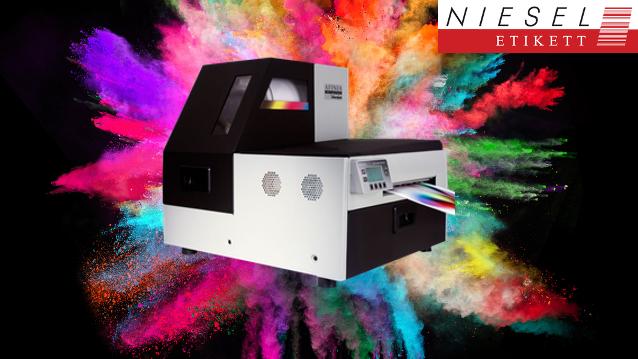 Inkjet Farb-Etikettendrucker mit revolutionärer Drucktechnologie