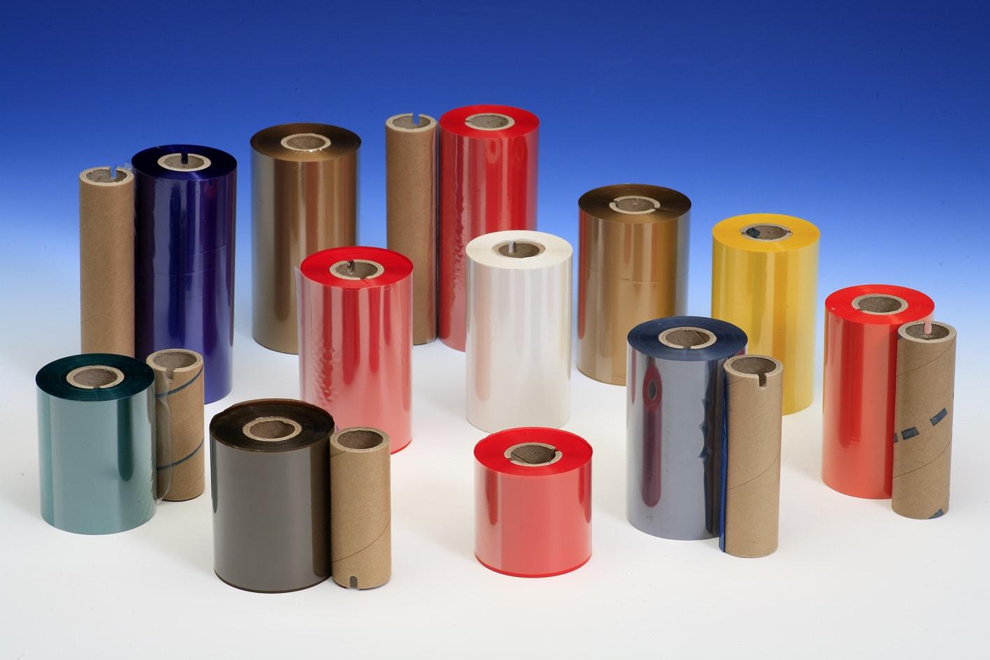 Thermotransferfolien in verschiedenen Farben