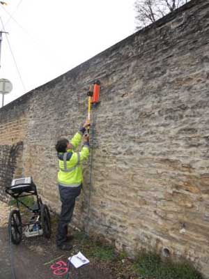 Auscultation radar des maçonneries avec Aquitaine radar