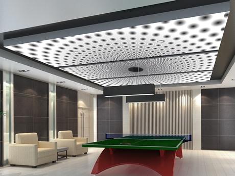 Beleuchtete Deckenbilder für das Wartezimmer