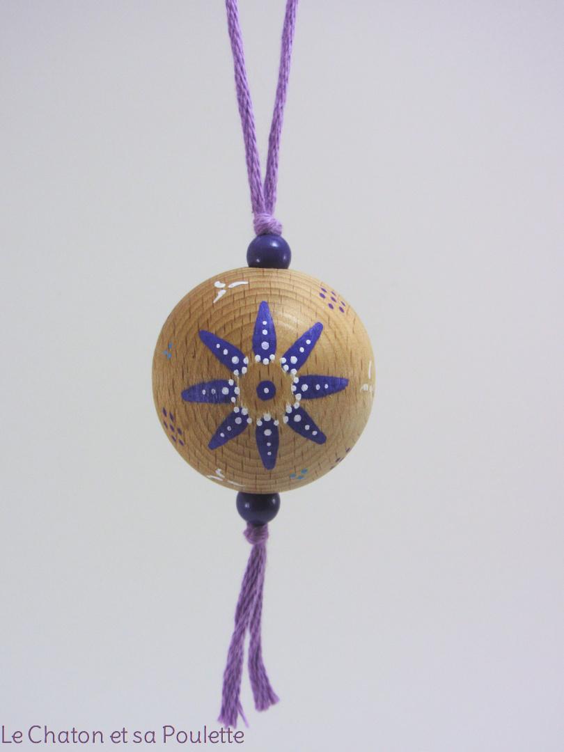 Boule violette SANDRA - Le Chaton et sa Poulette