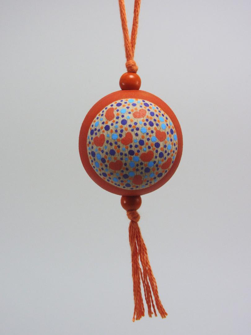 """VENDUE - Verso Boule orange FAMILLE """"cercle"""" (orange/rouge/violet/bleu) - Le Chaton et sa Poulette"""