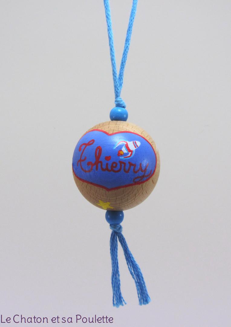Boule bleue THIERRY - Le Chaton et sa Poulette