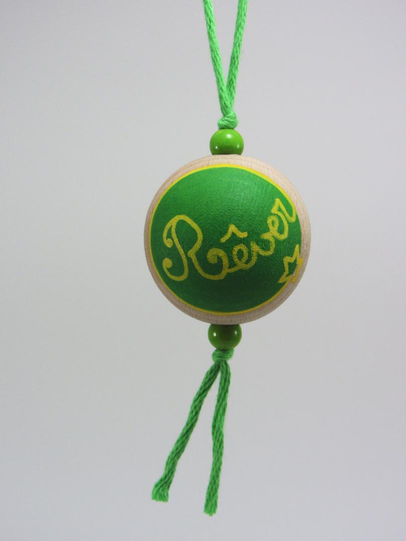 Boule verte RÊVER (vert/jaune/bleu) - Le Chaton et sa Poulette