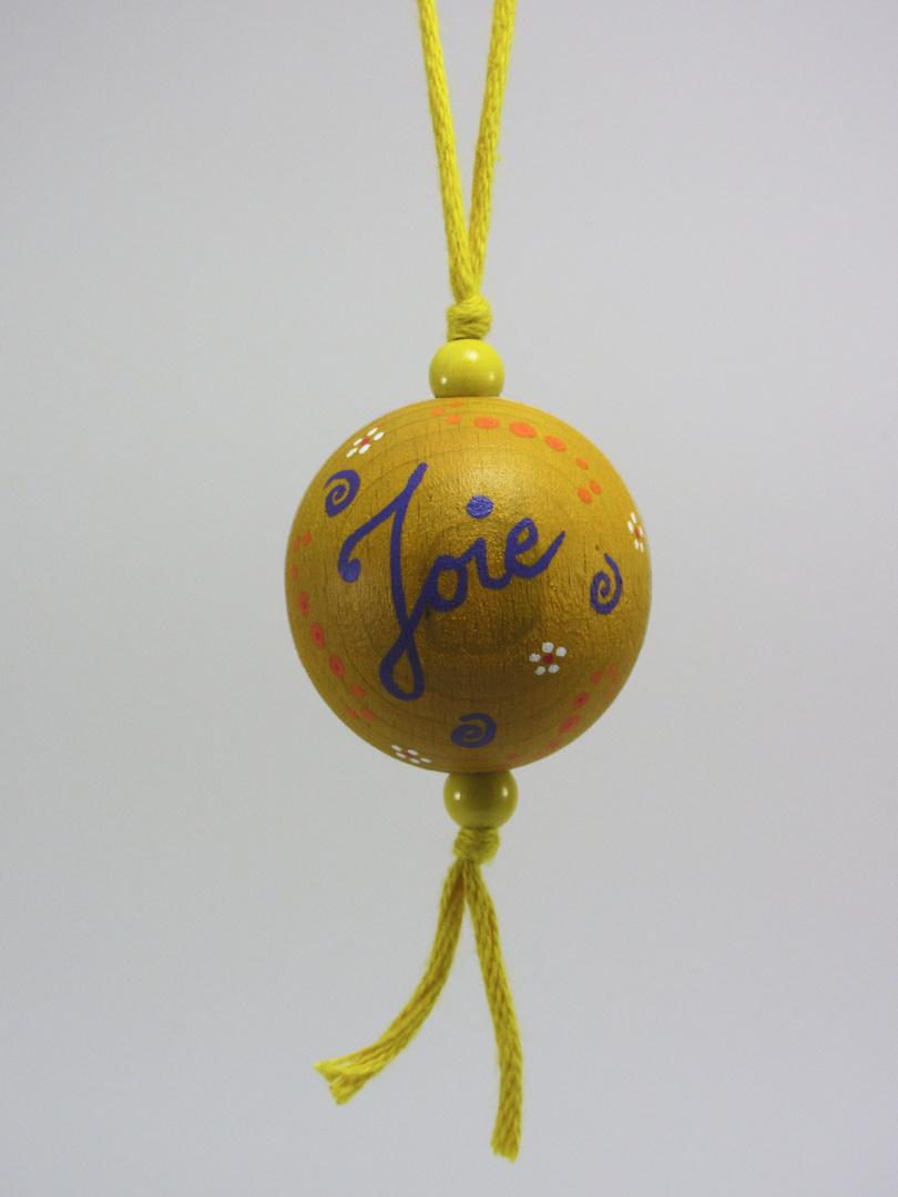 Boule jaune JOIE (jaune/violet) - Le Chaton et sa Poulette
