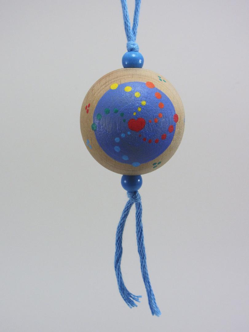 Verso Boule bleue FAMILLE (bleu/rouge) - Le Chaton et sa Poulette
