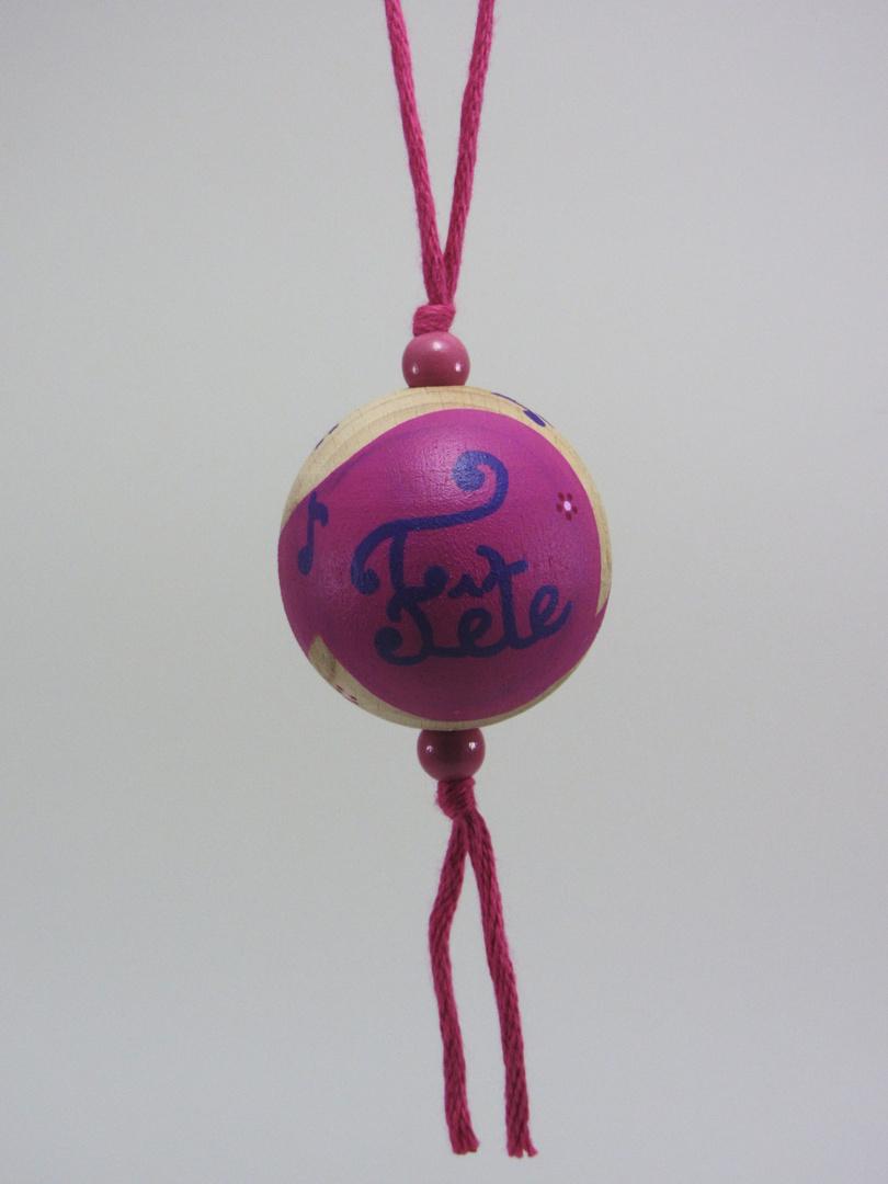 Boule fuchsia FÊTE (fuchsia/violet) - Le Chaton et sa Poulette
