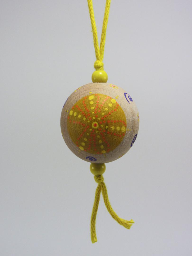 VENDUE - Verso Boule jaune JOIE (jaune/violet) - Le Chaton et sa Poulette