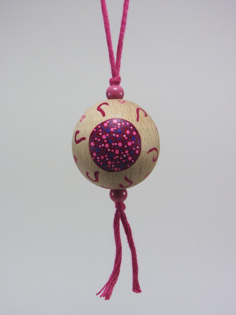 Verso Boule fuchsia AMOUR (fuchsia/rose/violet) - Le Chaton et sa Poulette