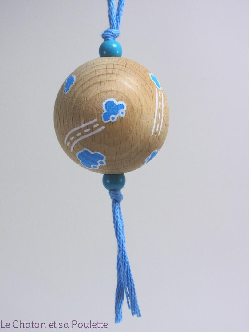 Boule bleue LOIS - Le Chaton et sa Poulette