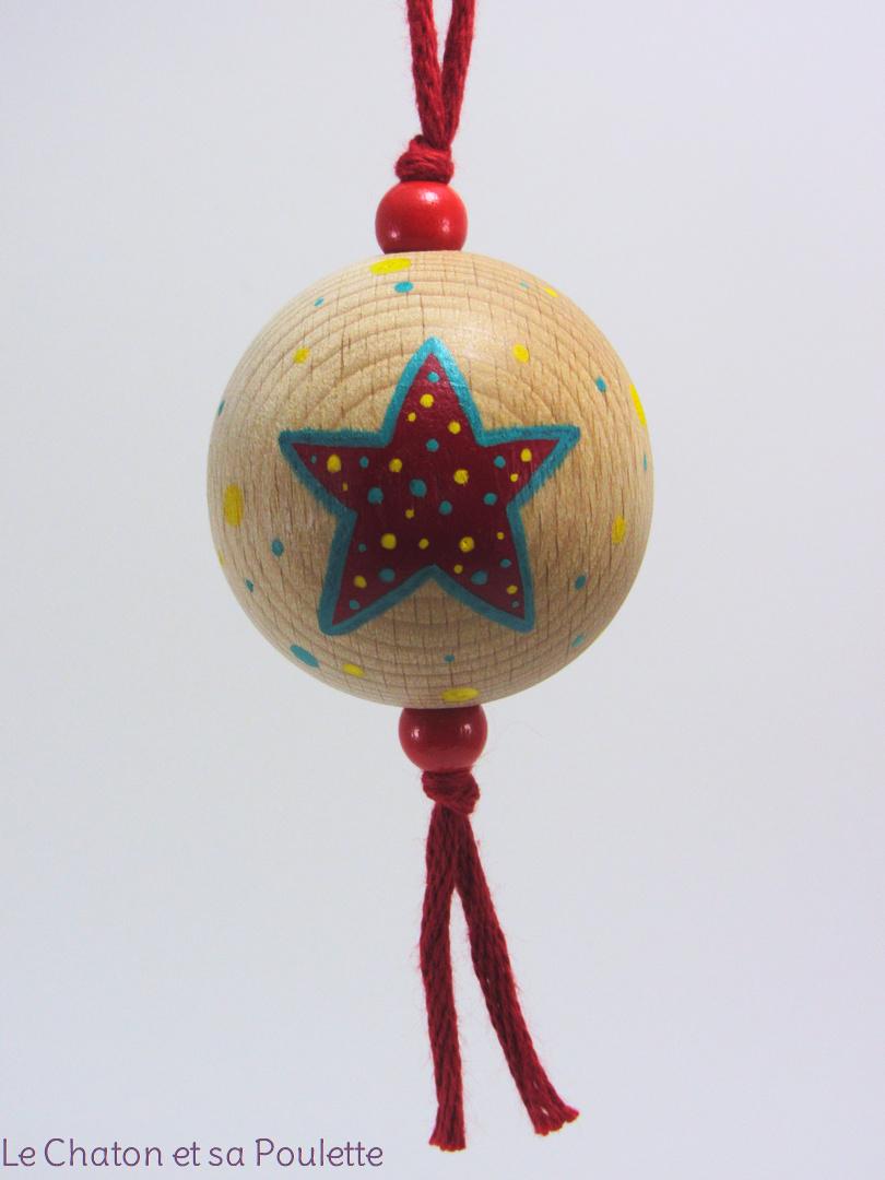 Boule rouge BABA - Le Chaton et sa Poulette