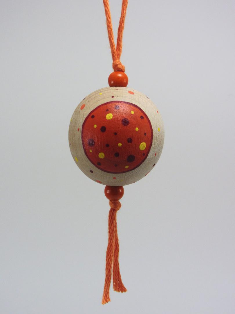 VENDUE - Verso Boule orange BONHEUR (orange/rouge/jaune) - Le Chaton et sa Poulette