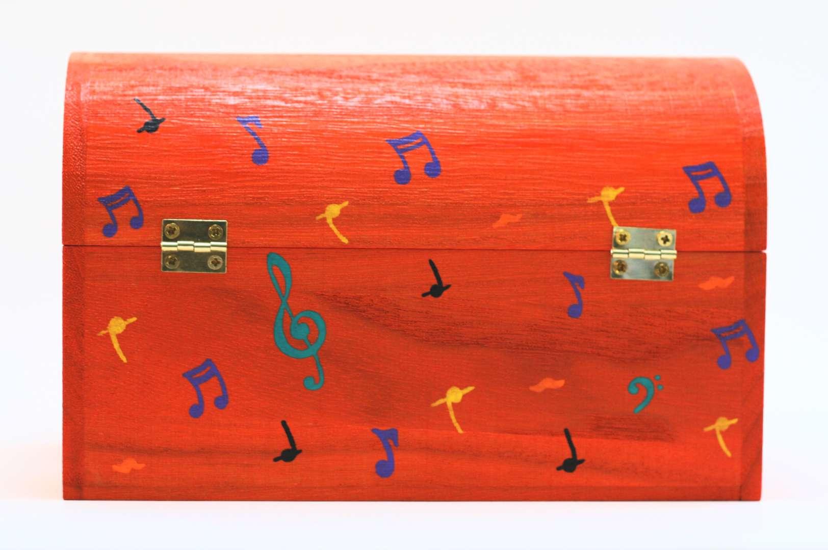 Coffret orange carotte Liam, décorations thème musical