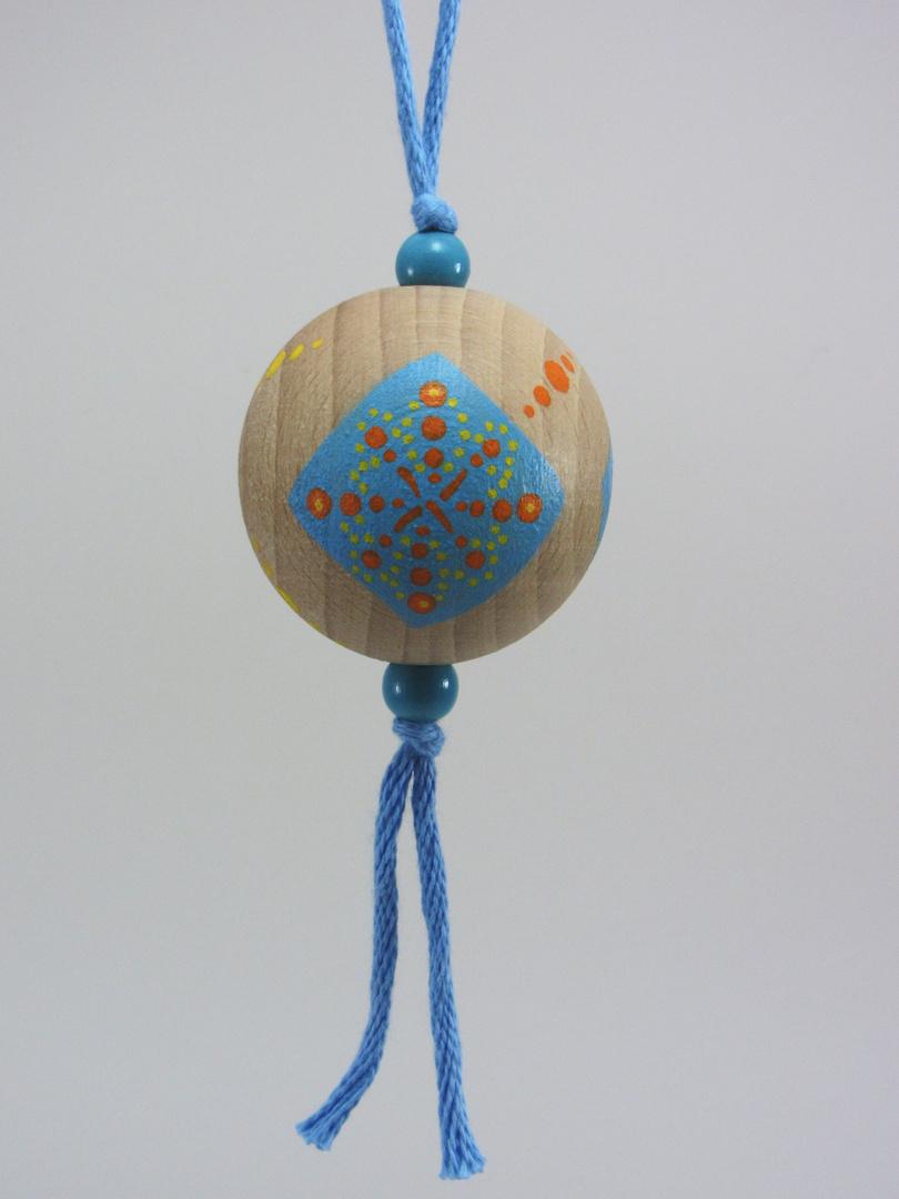 Verso Boule bleue RÊVER orange (bleu/orange/turquoise) - Le Chaton et sa Poulette